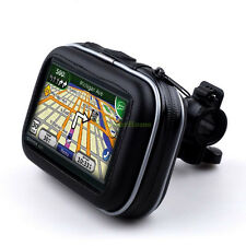 "Waterproof Bicycle Motorcycle handlebar Mount & Case F 4.3"" Garmin Nuvi GPS"