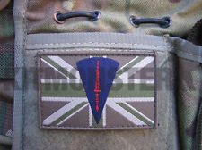 Union Flag Velcro Patch with Commando Dagger Qual badge for Multicam or MTP