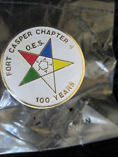 Masonic Pin Fort Casper Wyoming Chapter 4 100 Year Anniversary Nice Vintage #820