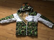 Adidas X Bape ID96 Sz L Down Jacket Jacke New A Bathing Ape No Supreme NMD Camo