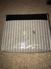 polo Ralph Lauren Grey Wide StripE Oxford Cotton Duvet Cover SUPER KING, BNWT