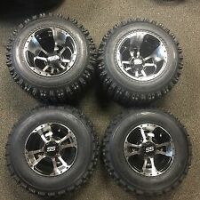 "10"" YAMAHA RAPTOR 660R 700 MACHINED ITP SS112 Rims & Slasher Tires Wheels kit"