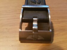 Breitling genuine rubber watch strap 22-20 with buckle