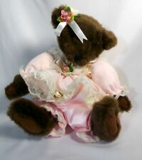 Vintage Wind Up Musical Teddy Bear Plays It's A Small World After All Head Turns