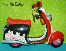 ✿ MONSTER HIGH GHOULIA YELPS DOLL RED SCOOTER BIKE MOTORCYCLE ONLY ✿