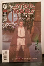 Star Wars Episode 1 Obi Wan Kenobi Dynamic Gold Foil Signed Howard Shum - COA