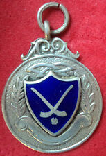 Irish Silver & Enamel Medal or Fob - Hurling /Shinty - Dublin 1947