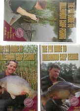 3 VHS VIDEOS THE FOX GUIDE TO MILLENNIUM CARP FISHING CUTTING EDGE RIG SECRETS