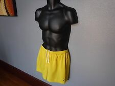 NIKE vintage Running Mens Shorts DRI-FIT track 2 in 1 brief  F7-NIKA yellow