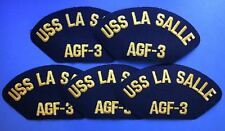 5 Lot Vintage 1990's US Navy USS La Salle AGF-3 Iron On Jacket Hat Patches 227