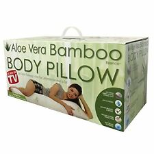SQA Aloe Vera BAMBOO BODY Pillow SIZE With COOL GEL TECHNOLOGY Organic Memory
