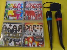 ps3 DISNEY SING IT x4 Camp Rock Pop Party High School Musical + 2 Wired Mics PAL