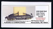 LMH Funaro F&C 6590  BM Boston & Maine  WELL HOLE FLAT Car w/ Load 5-Sold to GE