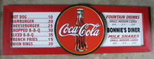Personalized Vintage Diner Style Soda Menu Board w/Coke Coca-Cola Tin Sign