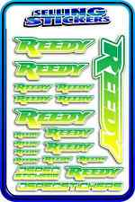 REEDY RC STICKERS DRIFT TOURING MOTOR ESC BATTERY 1/12 1/10 RACE GREEN YELLOW W