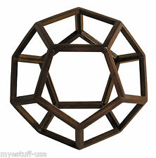 Dodecahedron 3D Geometric Ether - Aether Wooden Model  by Authentic Models AR038