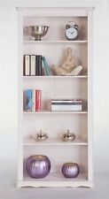 Bücherregal Standregal Regal Kiefer massiv Maserung Landhausstil 180 cm weiß