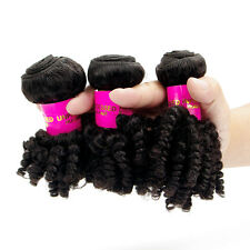 3 Bundles Afro Kinky Curly Human Hair Extension 100% Virgin Peruvian Hair Weave