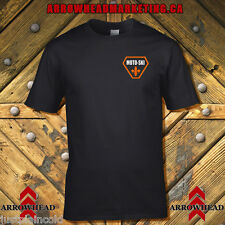 Moto Ski t-shirt with Triangle style Logo, left chest