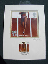 London 2012 Olympic/Paralymic Royal Mail STAMP PRINT ARTWORK ATHLETICS  Ltd Ed