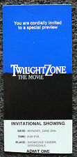 TWILIGHT ZONE THE MOVIE 83 ORG ADVANCE SCREENING TICKET ROD SERLING DAN AYKROYD