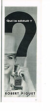 PUBLICITE ADVERTISING 054  1960  ROBERT PIGUET   parfum BANDIT