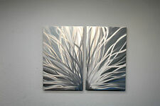 Abstract Metal Wall Art- Contemporary Modern Decor - Radiance, 2 panel
