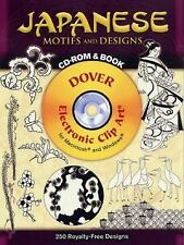Japanese Motifs and Designs CD-ROM and Book (Electronic Clip Art), Joseph D'Adde