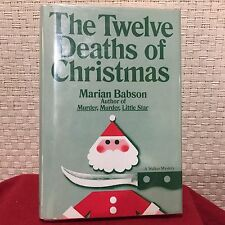The Twelve Deaths of Christmas by Marian Babson HC DJ Free Shipping