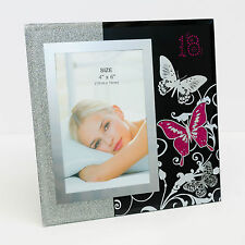 New Happy 18th Birthday Glass Photo Frame Size 10x15cm | Gift for Her | Keepsake