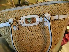 Auth., New MIchael Kors Natural Straw/ Leather trim Tote~ With tags~ REDUCED