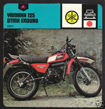 1977 YAMAHA 125 DTMX ENDURO Motorcycle PICTURE '78 CARD