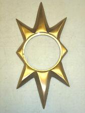NOS VTG TRIMCO 100 STARBURST DOOR ESCUTCHEON, SCHLAGE, SATIN BRONZE CAST