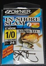 Owner 5373IS-111 In Shore Slam Size 1/0  K Hooks 24 pack Flounder Red Fish Trout