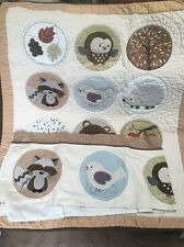 Carter's Forest Friends 2 Pc Collection Nursery Crib Set Quilt & Window Valance