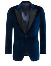 BNWT Suitsupply Suit Supply JORT BLUE PLAIN TUXEDO JACKET Sz 40R