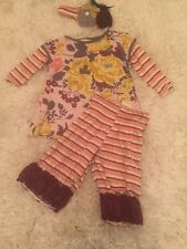 Beautiful Fall Persnickety Baby Girl 12 Month Lot Set Top Bottoms Headband