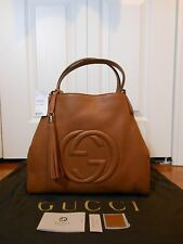 New Auth Gucci $2150 Soho Leather Hobo Shoulder Bag Handbag, Dusty Blush