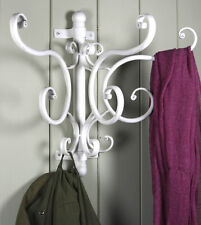 NEW French Style Grey Metal Coat Hooks Wall Rack Chic Shabby Hanger Hook Vintage