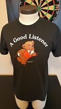 Vintage 1990 Good Listener Teddy Bear T-Shirt Doctor Therapist Concord Mass