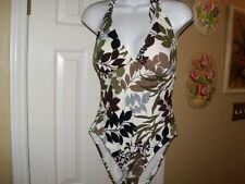 Ladies Size M 8-10 Catalina Floral Fully Lined 1 Piece Swimsuit Bathing Suit