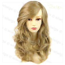 Wonderful wavy Long Golden Blonde Curly Ladies Wigs skin top Hair from WIWIGS UK