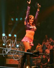 Velvet Sky Signed Autograph TNA Impact Purple Pink Outfit 8x10 Photo