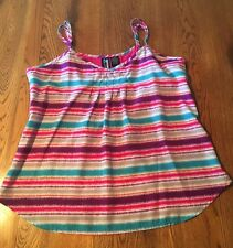 Weavers Striped Tank Top Summer Shirt Size L Large