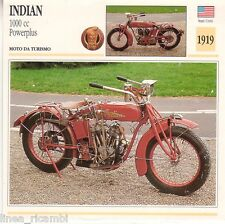 Scheda moto plastificata INDIAN 1000 cc Powerplus - Moto da turismo - 1919