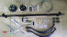 Trailer single axle Kit, Trailer parts, Braked, 1400kg Rated, 7x5-8x5. DIY kit