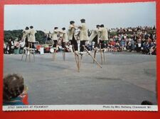 POSTCARD NORTHUMBERLAND STILT DANCERS AT FOLKMOOT