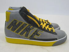 NIKE BLAZER HIGH COOL GREY BLACK WHITE YELLOW  316664-003 Sneaker .Size-  8