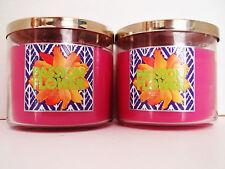 Bath Body Works Slatkin PASSION FLOWER 3-wick Candles 14.5 oz., NEW x 2