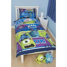 Childrens Disney Pixar Monsters Inc University - Reversible Single Duvet Set NEW